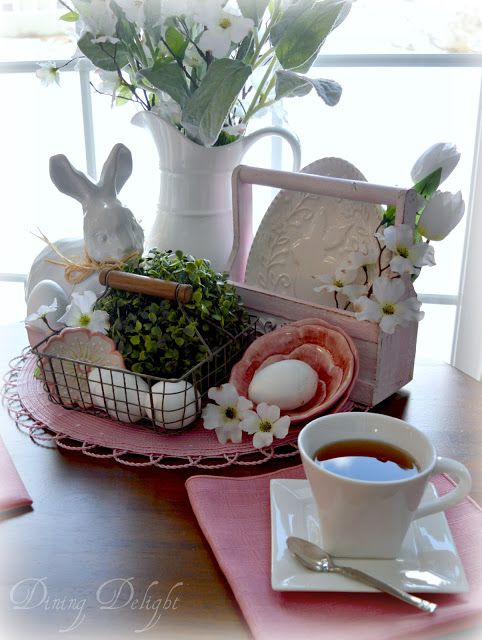 Dining Delight: Pink & White Spring Tea for Two