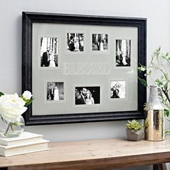 Black Blessed Engraved Picture Collage Frame
