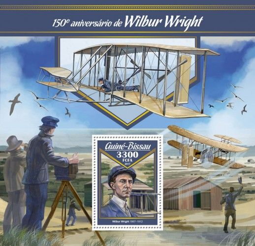 GB17001b 150th anniversary of Wilbur Wright (Wilbur Wright (1867–1912))