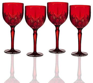 Marquis By Waterford, Brookside Red All Purpose Wineglasses, Set of 4 traditional everyday glassware