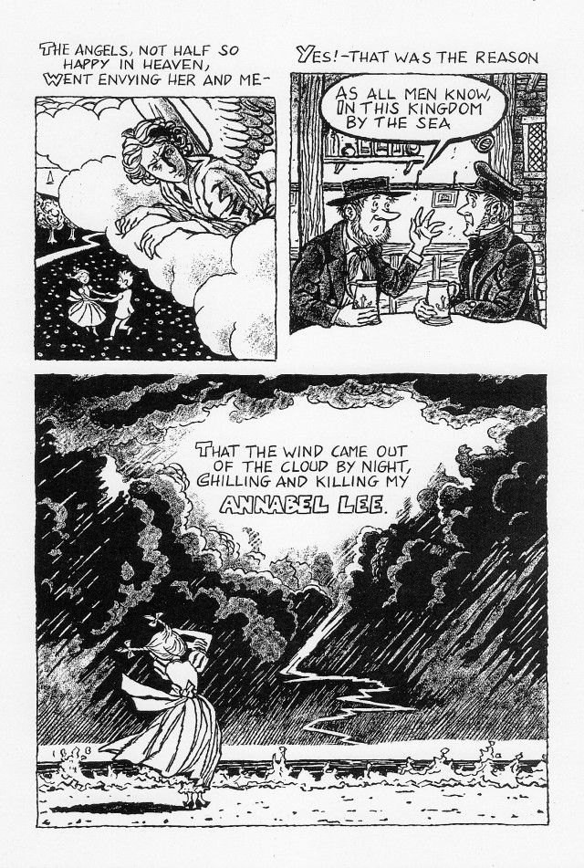 Page 4- Annabel Lee by Edgar Allan Poe Credits: http://julianpeterscomics.com/annabel-lee/ ""