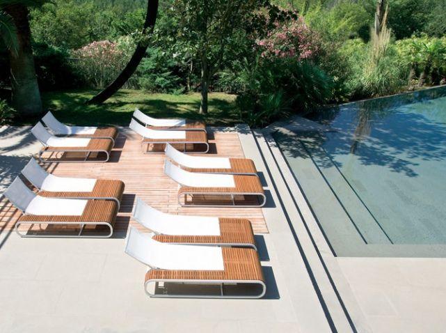 17 meilleures id es propos de chaises longues de piscine for Chaises longues design piscine