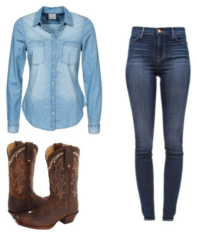 """Cowgirl Cutie!!!!!!!"" by jkatz11 ❤ liked on Polyvore featuring Vero Moda, J Brand, Tony Lama, women's clothing, women's fashion, women, female, woman, misses and juniors"