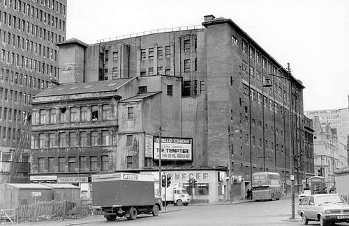Apollo Building Renfrew Street at West Nile Street 1975 by Gordon Waddell, via Flickr