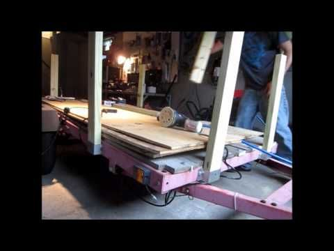 How to build Utility Trailer sides - YouTube