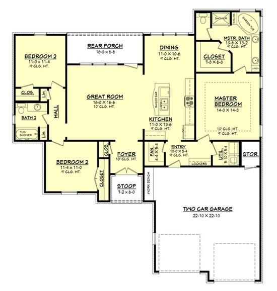 Small, but open-plan living place. Foyer a little too close to kitchen.