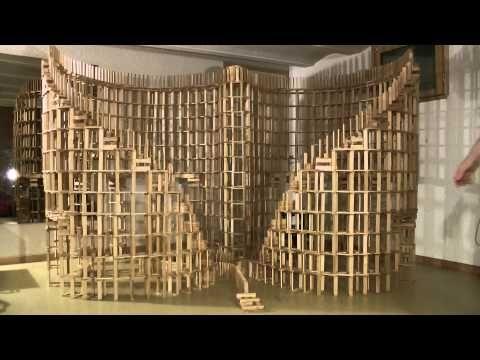 kapla construction destruction domino : double spirale 2