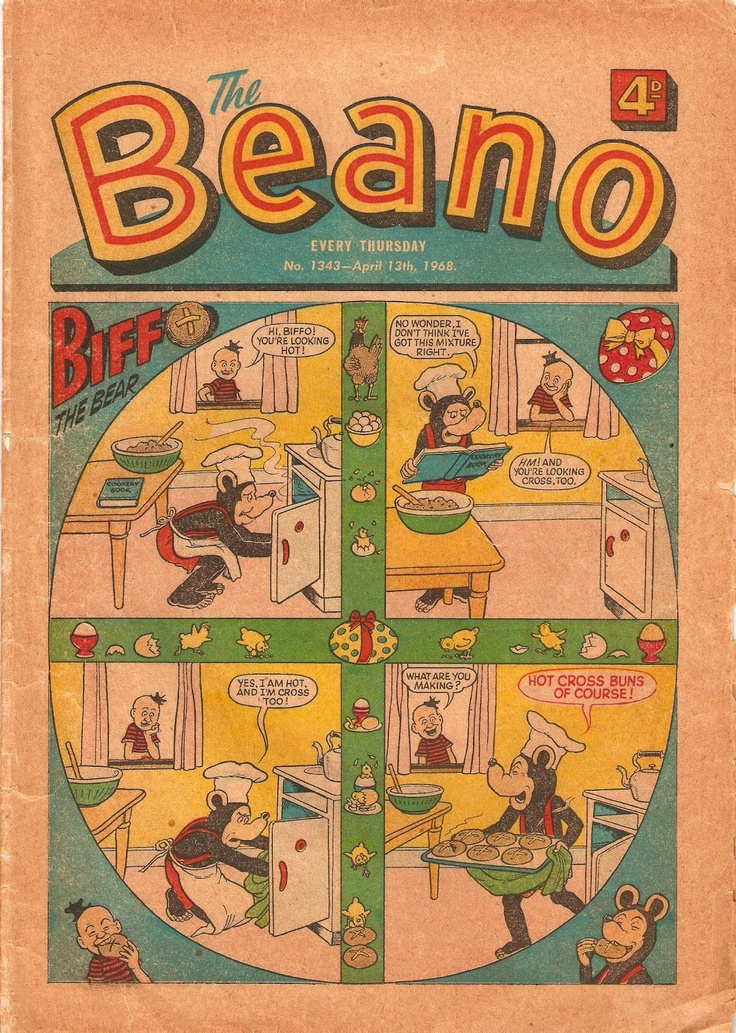 The Beano - April 1968 - Cover - Biffo the Bear via Wacky Comics