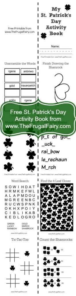 St. Patrick's Day Activity Book collage for site