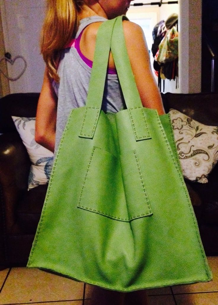 Spotted one of our Hand Sewn Leather shoppers in use yesterday.  Loved it.