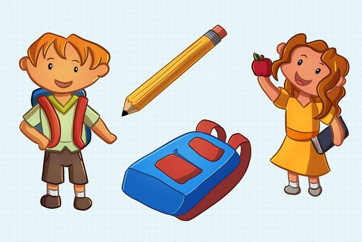 Back to School Kids Clip Art Collection, Cute School Kids ...