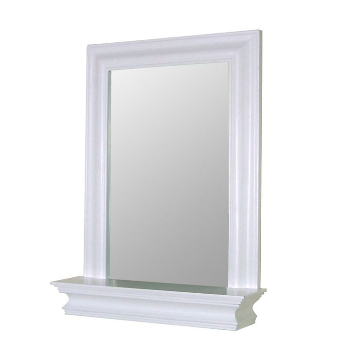 Create Photo Gallery For Website Elegant Home Fashions Stratford Collection Framed Mirror with Shelf White Framed mirror lends Elite