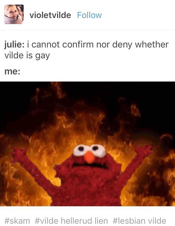 Skam Discourse Vilde Lgbtq Representation Lesbian Vilde Julie Andem Elmo Memes Elmo Painting Memes