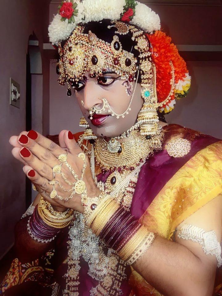 me manjulasrikumari as a bride    with heavy jewellery
