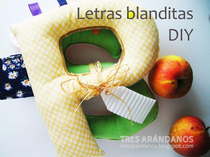 Letras de trapo! #tresarandanos #bebe #costura