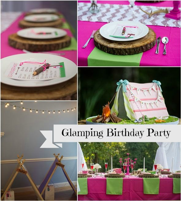 Birthdays, Camping Ideas And