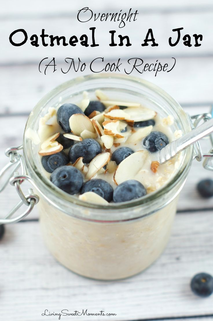 This delicious overnight oatmeal in a jar recipe is easy, simple and takes literally seconds to prepare. It tastes even better than regular oatmeal. Top with your favorite toppings and you're good to go!
