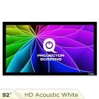 Fixed Frame Projector Screen - 16:9, 92 in. HD Acoustic White 1.2 Gain