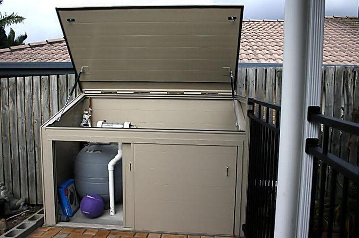 pool pump air conditioner fence cover | Pool Pump Housing door combination