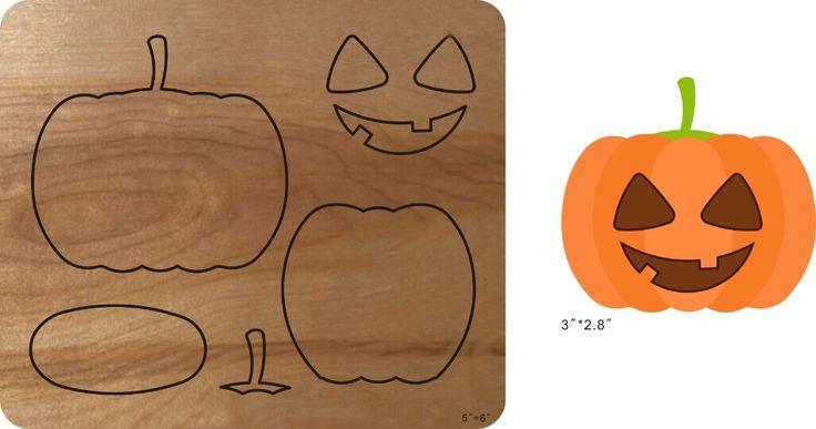 Pumpkin assembled - 6 & Wooden Die Fits Big shot Pro, Sizzix New