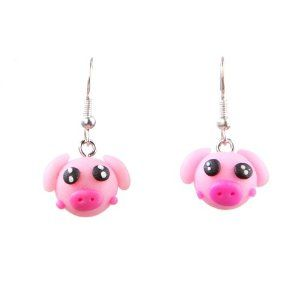 Amazon.com: Jikora Children's Polymer Clay Character Earrings for Kids Girls: Jewelry
