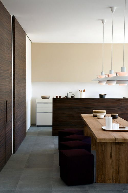 A very organic and Japanese feel to the dining area, and am thinking those pendant lamps, if genuine, must cost a bomb.
