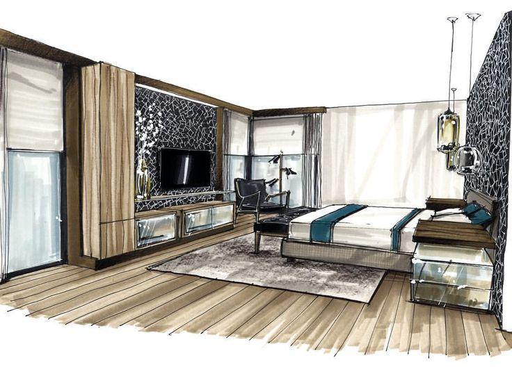 les 112 meilleures images du tableau croquis rendu archi sur pinterest dessiner architecture. Black Bedroom Furniture Sets. Home Design Ideas
