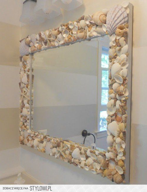picture only mirror surrounded by shells