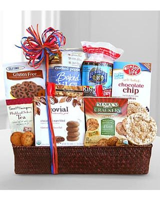 100 best gift baskets images on pinterest hamper gift gift gluten free gift basket sendmeone negle Choice Image