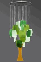 Glass windchimes #gifting #garden #diy