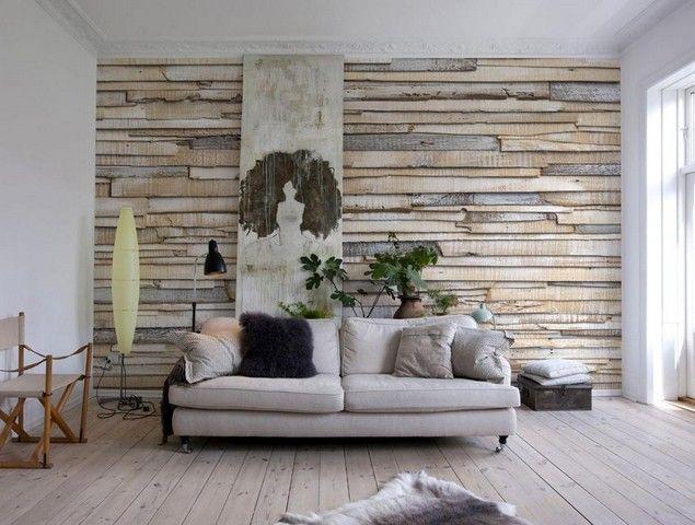 деревянные стены в интерьере - Google Search