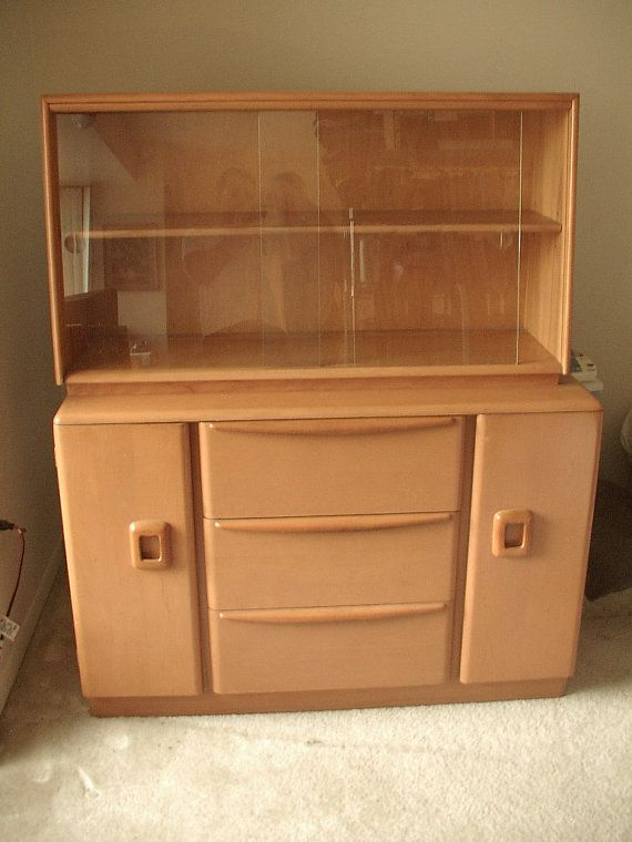 Items Similar To Vintage Heywood Wakefield China Cabinet Hutch, Champagne, Mid  Century Modern Furniture, Antique Furniture, Wedding Gift For Bride On Etsy