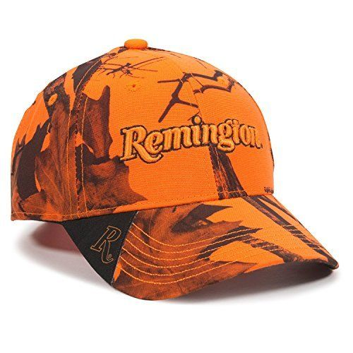 Outdoor Cap Unisex-Adult Remington Blaze Camo Cap Remington branded  Embroidery front and center Mossy 5f5d31faf91b