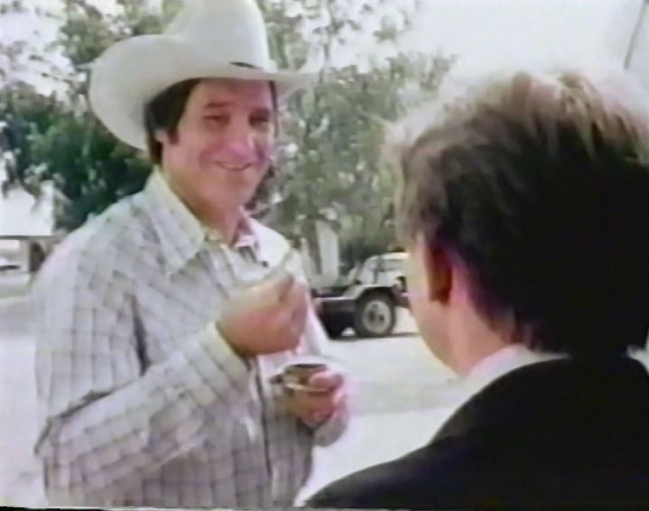 Former Cowboy rb WALT GARRISON in a commercial for Skoal tobacco--1980