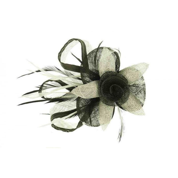 Ivys Fascinator / Black / Grey