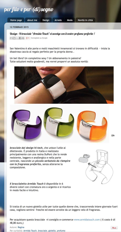 So happy to have yet another publication! @Armidatouch   http://perfiloeperdisegno.blogspot.it/2015/02/design-il-bracciale-armida-touch-vi.html