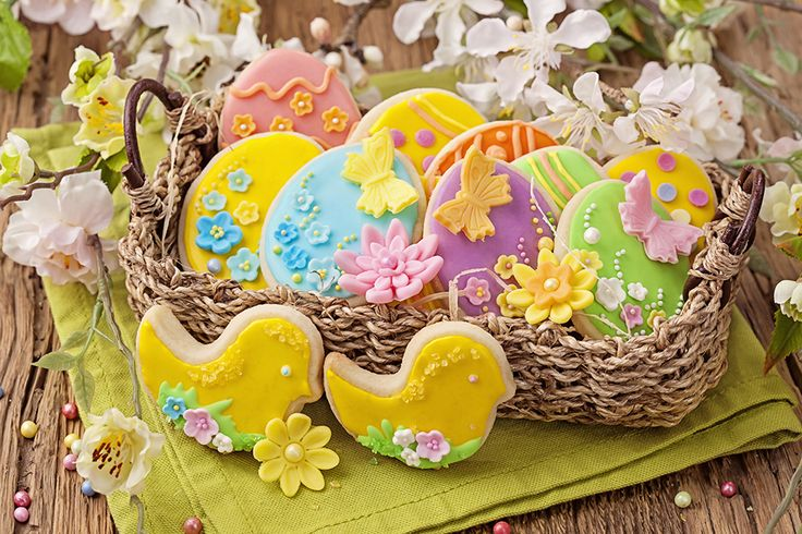 Ricas galletitas decoradas para compartir en la mesa en #Pascuas #cookies #easter