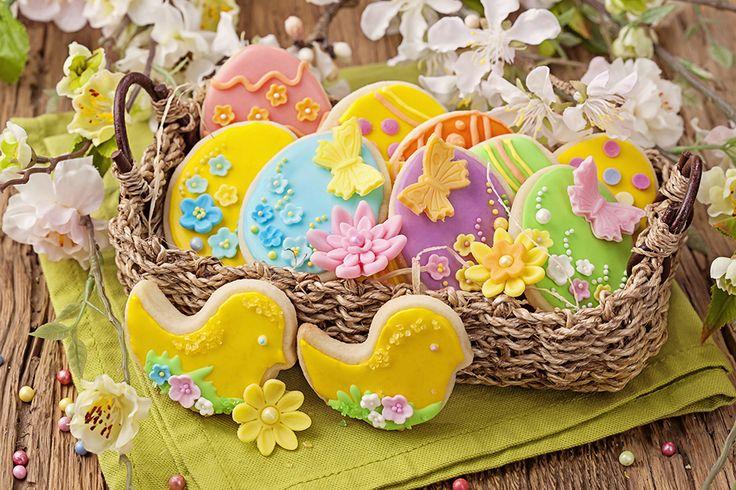 Ricas galletitas decoradas para compartir en la mesa en #Pascuas #cookies #easter