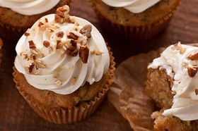 Zucchini Cupcakes with Tangy Buttercream Frosting Recipe: Desserts ...