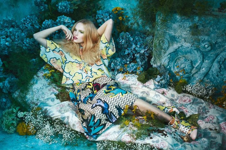 visual optimism; fashion editorials, shows, campaigns & more!: tutte in fiore: luisa bianchin by sandrine dulermo and michael labica for glamour italia april 2015