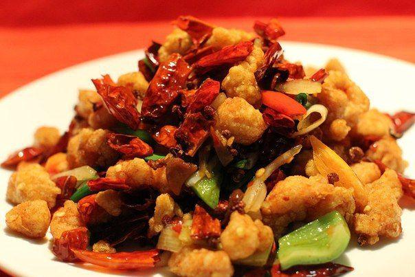 Recipe spicy chicken in Szechuan