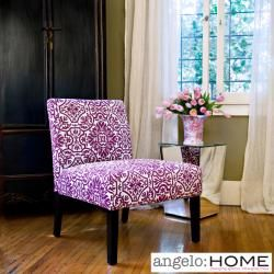Purple Damask chair from Overstock