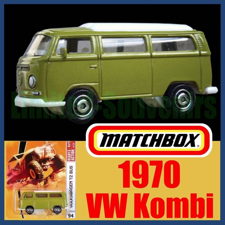 Matchbox Green1970 VW Kombi Camper Van T2 Bus RARE MOC Volkeswagen New on Card