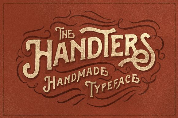Handters typeface by ilhamherry on @creativemarket