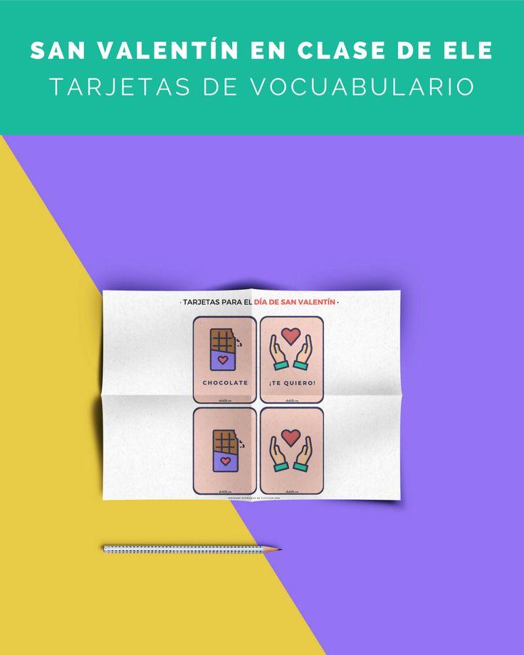 ❤️️ ¡Tarjetas de vocabulario de #SanValentín! ❤️️    Continuo con las actividades de San Valentín, ahora os dejo en el blog estar tarjetas para jugar al memory y aprender el vocabulario relacionado con San Valentín.    Descárgalas en PDF aquí  http://abcdeele.com/sanvalentin2/    ¡Comparte para que todos los profes las vean! :D