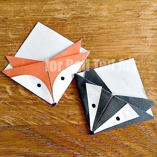 jelvényt kézműves - egyszerű papír könyvjelző