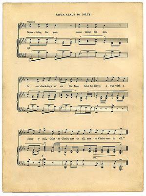 Vintage Printable - Christmas Sheet Music - Santa - The Graphics Fairy