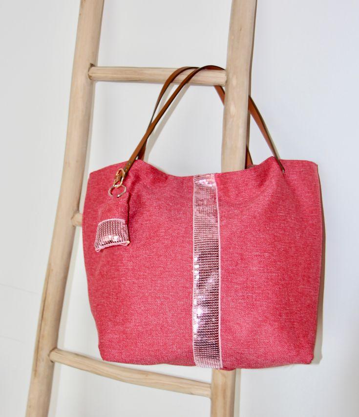 Le sac paillettes rose. Le kit à coudre et le tuto sur Tissus and You.