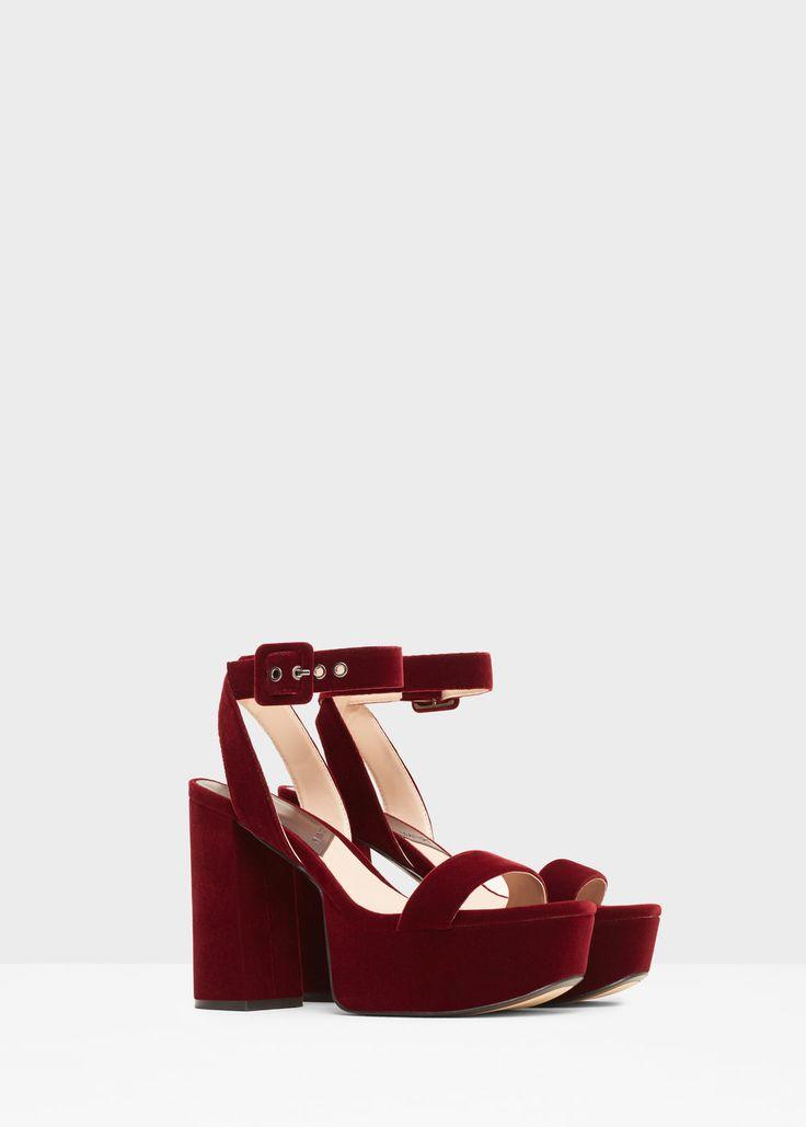 Sandalen met enkelbandje en plateauzolen -  Dames | MANGO Nederland