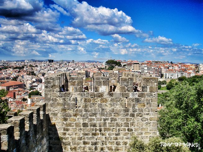 Castelo de Sao Jorge in Lisbon, Portugal *** read more about my trip to Lisbon on www.jump-on-board.com